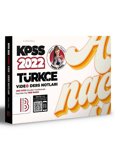 2022 KPSS Türkçe Video Ders Notlar