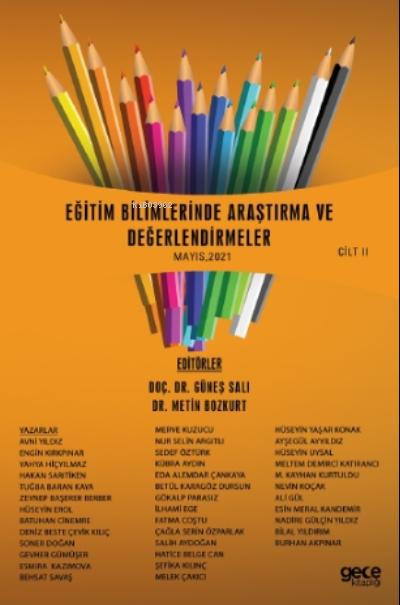 Eğitim Bilimlerinde Araştırma Ve Değerlendirmeler Mayıs Cilt Ii