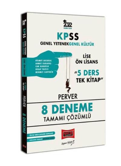 KPSS 2022 GY-GK Lise Ön Lisans 5 Ders Tek Kitap Perver Tamamı Çözümlü 8 Deneme
