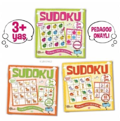 Çocuklar İçin Sudoku Seti (3+ Yaş);3 Takım Kitap
