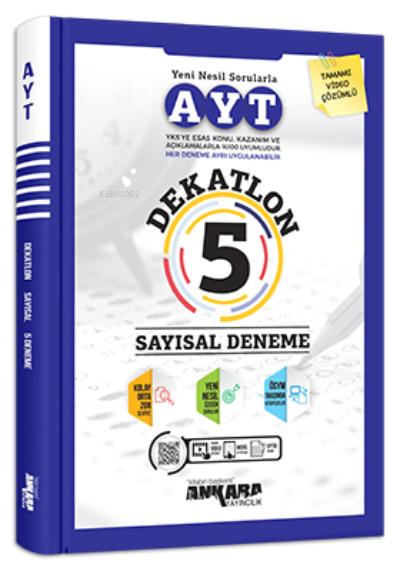 Ayt Dekatlon 5 Sayısal Deneme