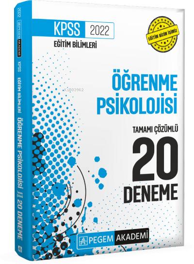 2022 KPSS Eğitim Bilimleri Öğrenme Psikolojisi Tamamı Çözümlü 20 Deneme