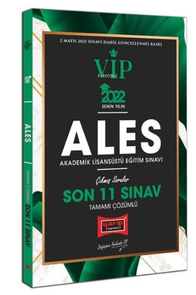 2022 ALES VIP Tamamı Çözümlü Son 11 Sınav Çıkmış Sorular