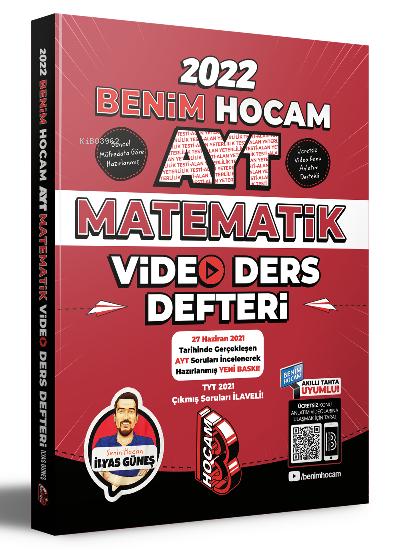 Benim Hocam Yayınları 2022 AYT Matematik Video Ders Defteri