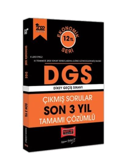2022 DGS Ekonomik Seri Son 3 Yıl Tamamı Çözümlü Çıkmış Sorular