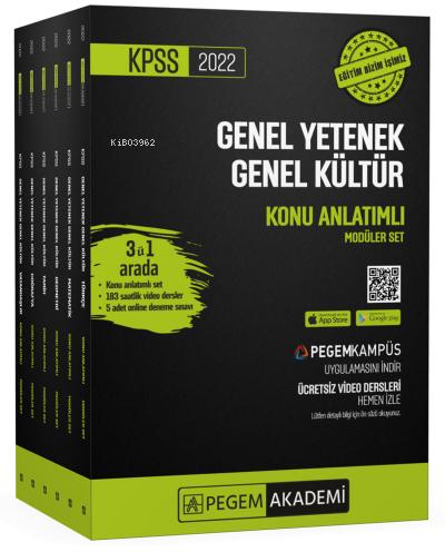 2022 KPSS Genel Yetenek Genel Kültür Konu Anlatımlı Modüler Set (6 Kitap);En Güncel Video Dersler + 5 Adet Online Deneme Sınavı