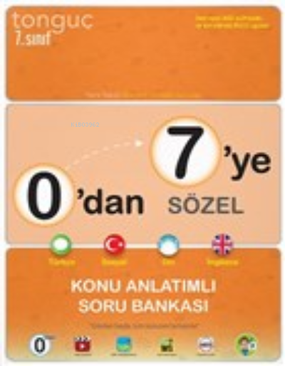 2021 7.Sınıf 0'dan 7'ye Sözel Konu Anlatımlı Soru Bankası