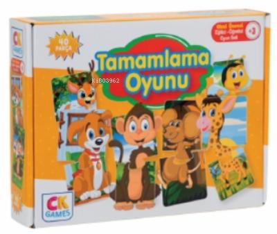 Tamamlama Oyunu Okul Öncesi Oyun Seti +3 Yaş;Eğitici Öğretici 40 Parça Puzzle Oyun Seti