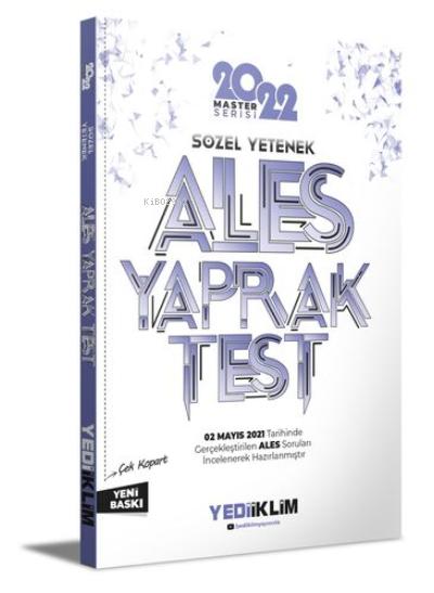 2022 Ales Sözel Yetenek Çek Kopart Yaprak Test