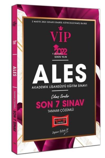 2022 ALES VIP Tamamı Çözümlü Son 7 Sınav Çıkmış Sorular
