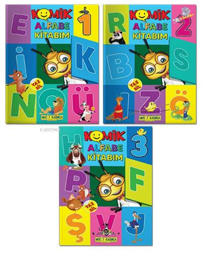 3-6 Yaş YAZ-SİL Komik Alfabe Kitabım - Etkinlik Seti