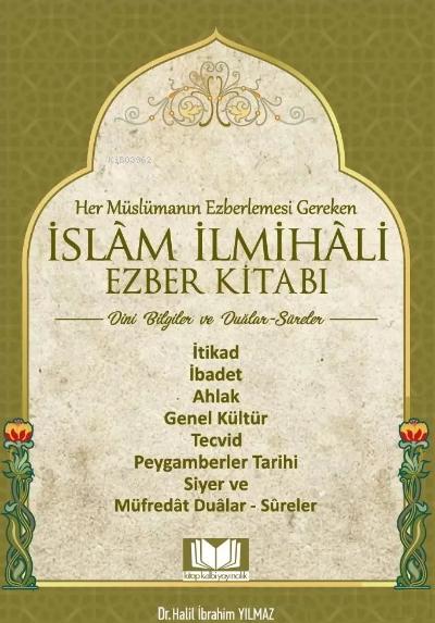 İslam İlmihali Ezber Kitabı Dini Bilgiler