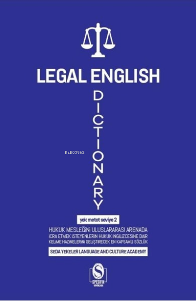 Legal English Dictionary;Yek Metot Seviye 2