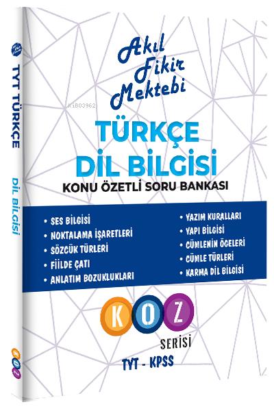 2021 Türkçe Dil Bilgisi Konu Özetli Soru Bankası