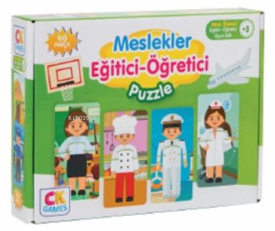 Meslekleri Öğreniyorum Okul Öncesi Oyun Seti +3 Yaş;Eğitici Öğretici 40 Parça Puzzle Oyun Seti