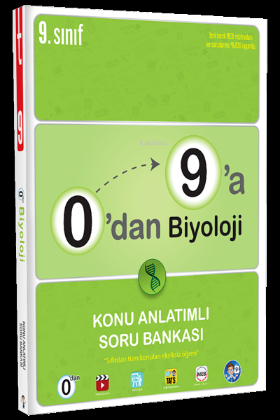 0'dan 9'a Biyoloji Konu Anlatımlı Soru Bankası