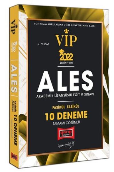 2022 ALES VIP Tamamı Çözümlü Fasikül Fasikül 10 Deneme
