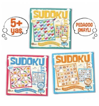Çocuklar İçin Sudoku Seti ((5+ Yaş);3 Takım Kitap