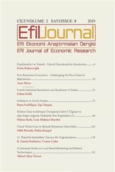 Efil Ekonomi Araştırmaları Dergisi  Cilt: 2 Sayı: 8
