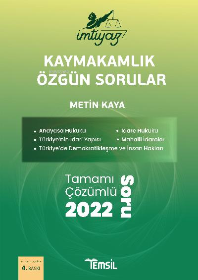 İmtiyaz Kaymakamlık Özgün Sorular;Tamamı Çözümlü 2000 Soru