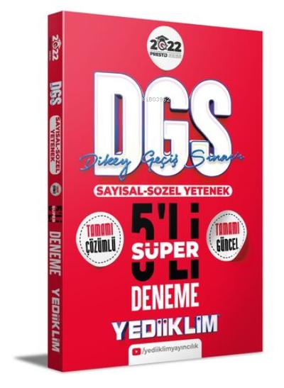 2022 Prestij Serisi Dgs Tamamı Çözümlü Süper 5 Deneme