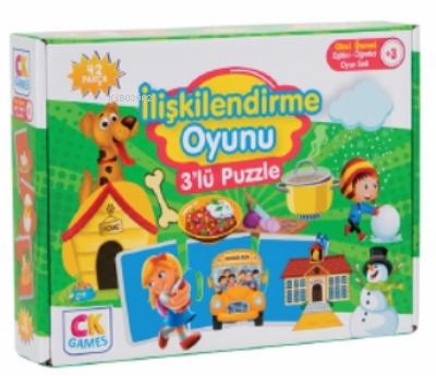 İlişkilendirme Oyunu Okul Öncesi Oyun Seti +3 Yaş;Eğitici Öğretici 42 Parça Puzzle Oyun Seti