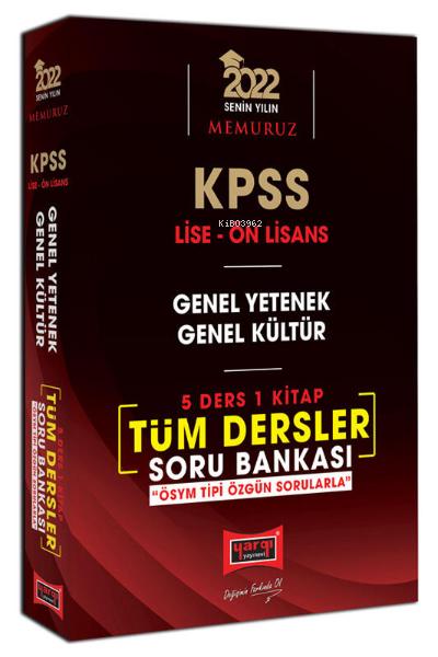 2022 KPSS Lise Ön Lisans GY GK 5 Ders 1 Kitap Tüm Dersler Soru Bankası