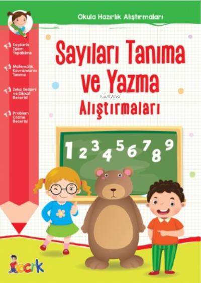 Sayıları Tanıma ve Yazma Alıştırmaları;Okula Hazırlık Alıştırmaları