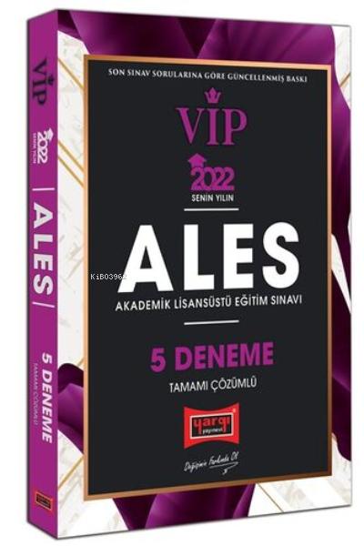 2022 ALES VIP Tamamı Çözümlü 5 Deneme