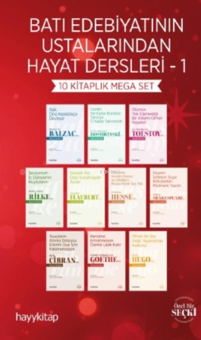 Batı Edebiyatının Ustalarından Hayat Dersleri 1 - 10 Kitaplık Mega Set