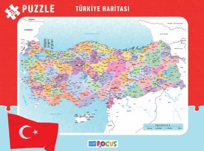 Türkiye Haritası Frame Puzzle Boy 72 Parça