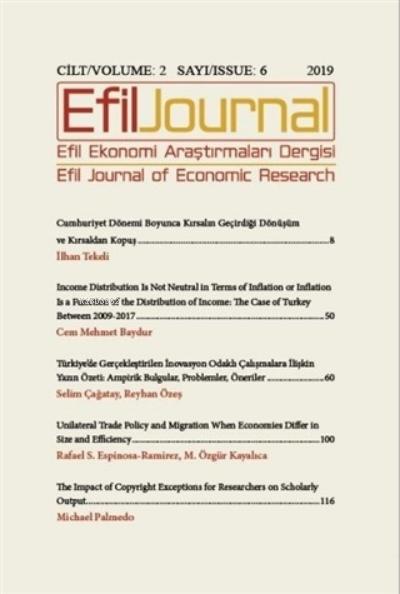 Efil Ekonomi Araştırmaları Dergisi Cilt: 2 Sayı: 7