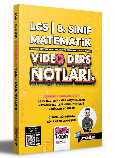 2022 LGS 8.Sınıf Matematik Video Ders Notları (Konu Anlatımı) Benim Hocam Yayınları