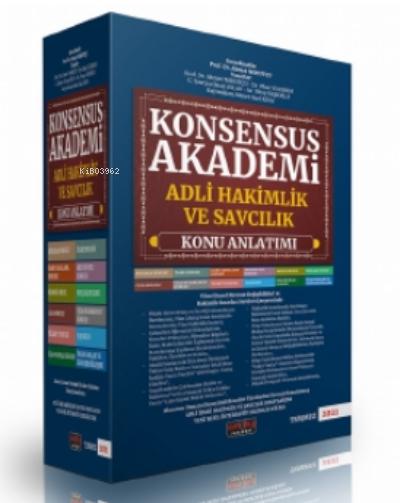 Konsensus Akademi Adli Hakimlik ve Savcılık Konu Anlatımlı Set Savaş Yayınları 2021;Adli Hakimlik Sınavı Hazırlık