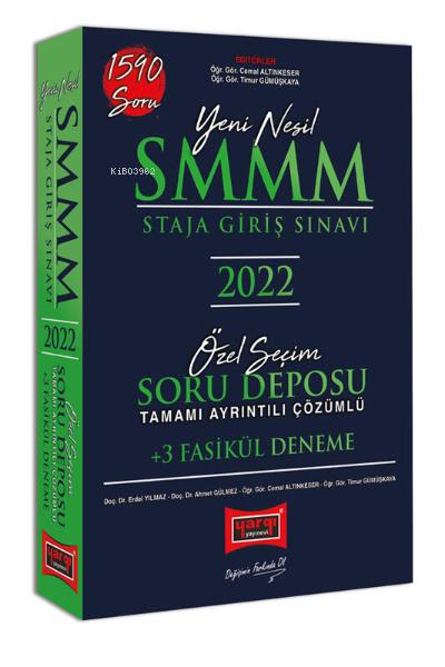 2022 SMMM Staja Giriş Sınavı Tamamı Ayrıntılı Çözümlü Özel Seçim Soru Deposu +3 Fasikül Deneme