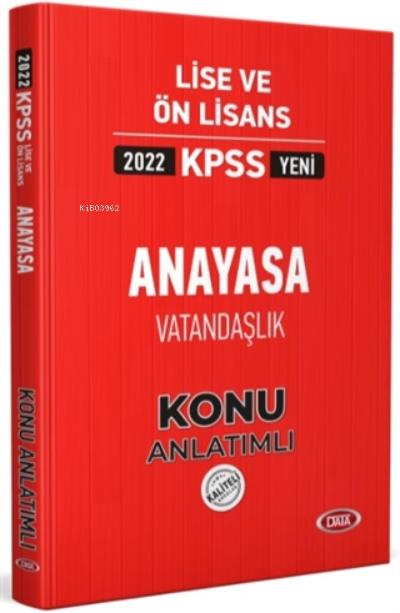 2022 KPSS Lise ve Ön Lisans Anayasa Vatandaşlık Konu Anlatımlı