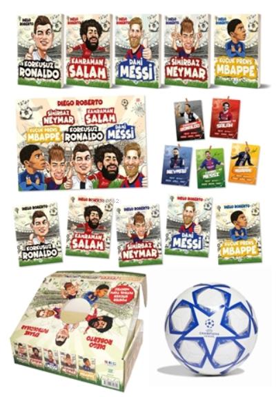 Efsane Futbolcular Kutulu Set (5 Kitap Takım - Futbol Topu Hediyeli)