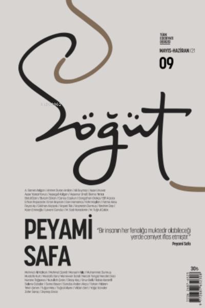 Söğüt - Türk Edebiyatı Dergisi Sayı 9 / Mayıs - Haziran 2021;Peyami Safa