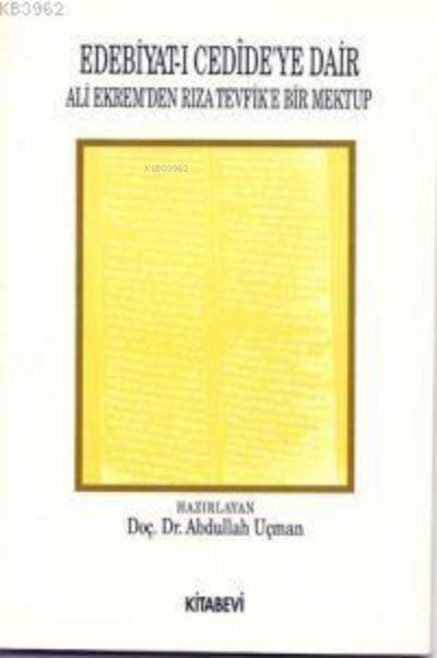 Edebiyat-ı Cedide'ye Dair