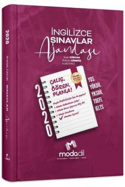 Modadil Yayınları İngilizce Sınavlar Ajandası