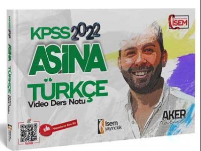 2022 KPSS Aşina Türkçe;Video Ders Notu