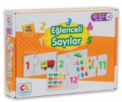 Eğlenceli Sayılar Okul Öncesi Oyun Seti +3 Yaş;Yaş Eğitici Öğretici 40 Parça Puzzle Oyun Seti