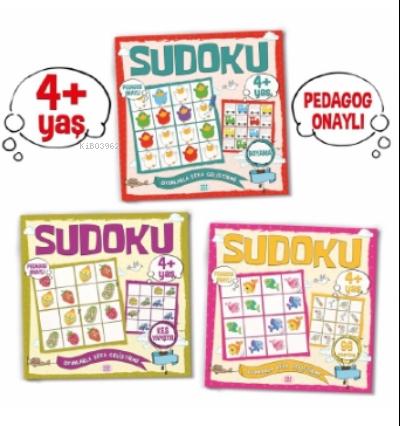 Çocuklar İçin Sudoku Seti ((4+ Yaş);3 Takım Kitap