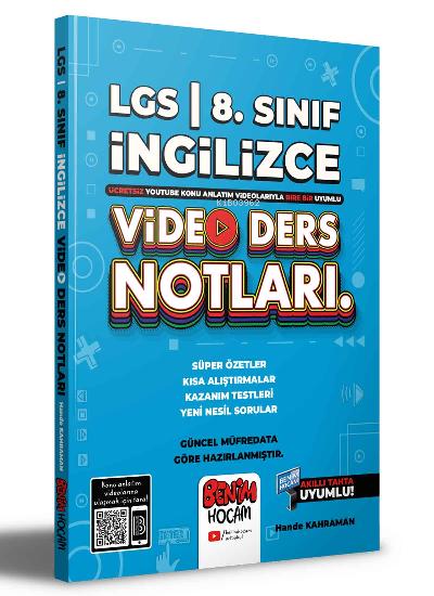 2022 LGS 8.Sınıf İngilizce Video Ders Notları (Konu Anlatımı)