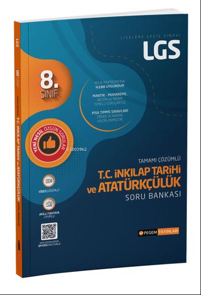 8. Sınıf LGS Tamamı Çözümlü T.C. İnkılap Tarihi ve Atatürkçülük Soru Bankası