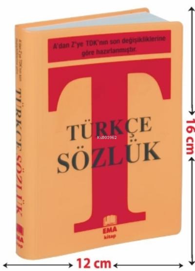 Türkçe Sözlük A'dan Z'ye TDK Uyumlu ;Plastik Kapak - Çanta Boy