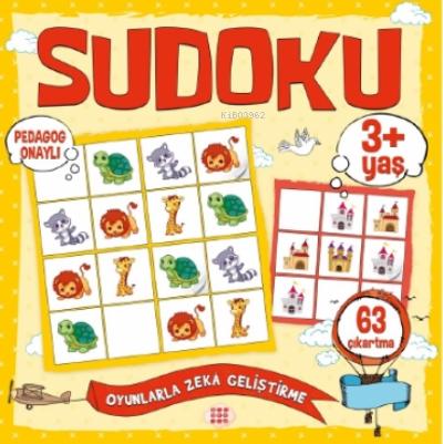 Çocuklar İçin Sudoku - Çıkartmalı (3+ Yaş)