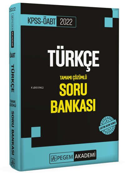2022 KPSS ÖABT Türkçe Soru Bankası