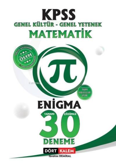 Enigma Tamamı Çözümlü 30 Kpss Matematik Denemesi