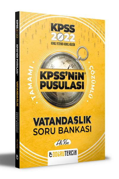 Doğru Tercih Yayınları 2022 KPSS'NİN Pusulası Vatandaşlık Soru Bankası